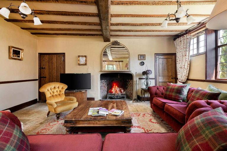 Large holiday cottage with fire in Suffolk | Cressland